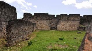 Rovive del palazzo di Husuni Kubwa, fatto costruire dal sultano Al-hasan bin Sulaiman sull'isola di Kilwa Kisiwani, nell'attuale Tanzania.