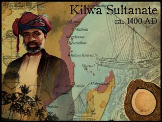 Sultanato di Kilwa ca. 1400 dC.