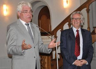 Dr. R. Hermann (re.) und G. Duncker