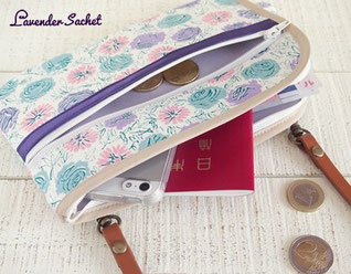 新作UP-お財布ショルダーバッグ専門店Lavender sachet*ラベンダーサシェ