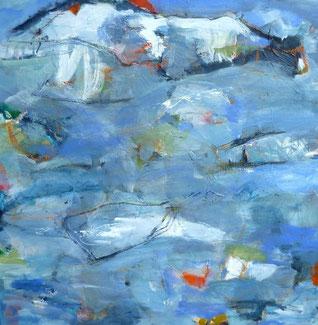 blau, blue, absrtact, Malerei, Quadrat, painting, informel