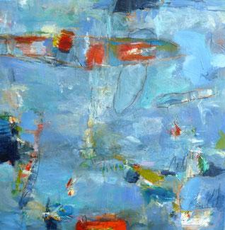 blau. blue, abstrakt, Malerei, painting, informel, expressionism, Engels