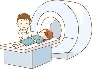 病院での検査のイラスト