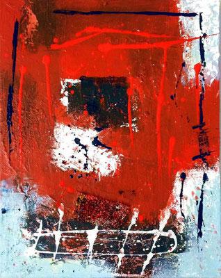 """WVZ 002/2016 - """"SERIE Lust am Leben"""" / Acryl auf Leinwand, Format 60 x 50 cm, im Schattenfugenrahmen, weiß"""