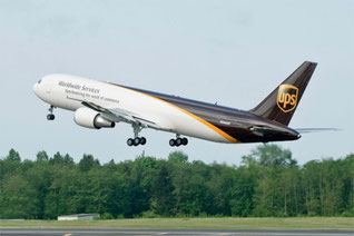 UPS failed to report B767 lost engine cowling panel  -  picture UPS