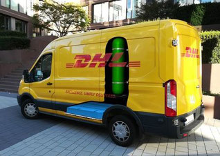 "DHL's new hydrogen-powered ""H2 Panel Van"""
