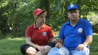 Nella foto Ada e Matteo due giocatori di Baseball