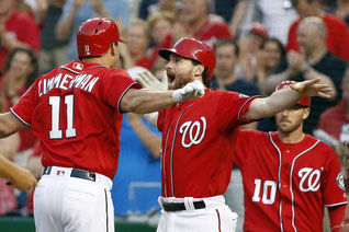 Ryan Zimmerman e  Daniel Murphy. (Alex Brandon/Associated Press)