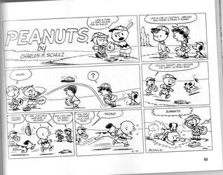 La prima striscia dei Peanuts disegnata da Schulz