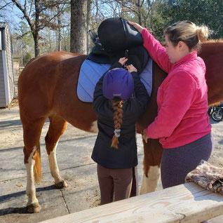 Horseback riding is fun