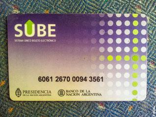 Sube Karte für öffentlichen Nahverkehr in Buenos Aires