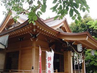 矢向日枝神社の拝殿