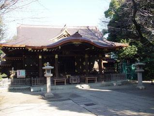 渋谷氷川神社の拝殿