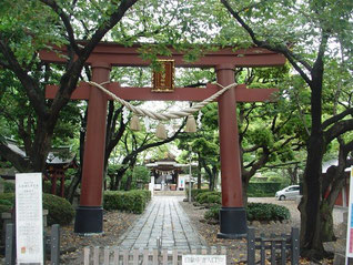 蒲田八幡神社の鳥居