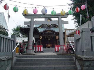鵜ノ木八幡神社の鳥居
