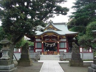 蒲田八幡神社の拝殿