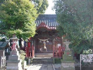 高津諏訪神社の拝殿