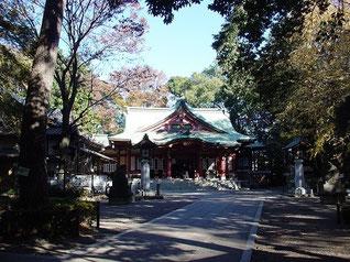 世田谷八幡宮の拝殿