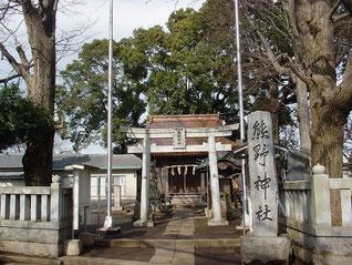 北加瀬熊野神社の鳥居・拝殿
