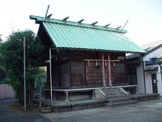 千年神社の拝殿