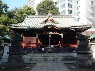 金王八幡宮の拝殿