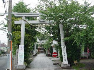 矢向日枝神社の一の鳥居
