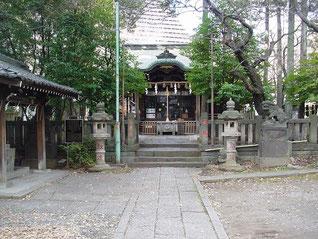 西久保八幡神社の拝殿
