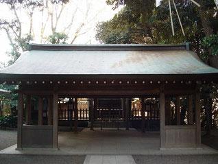 國學院大學神殿の拝殿