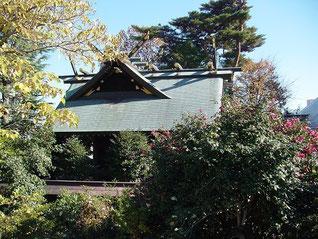 松陰神社の本殿
