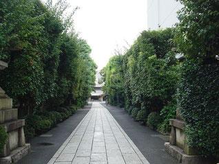 六郷神社の西参道