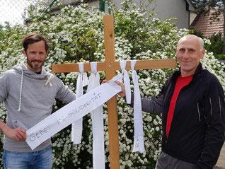 Klaus Schwertner (Caritas Wien) und Michael Zikeli (Don Bosco Flüchtlingswerk)