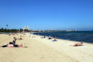 St. Kilda Melbourne, Strand, Stadtstrand, Australien