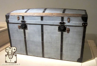 antique Louis Vuitton domed trunk, circa 1860 Trianon canvas, wood, iron, paper