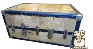 Old trunk covered with parchment