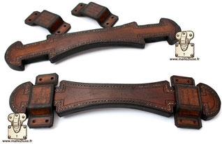 poignée de Malle Louis Vuitton sur mesure ancienne patine
