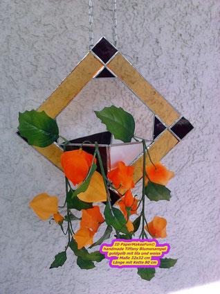 Tiffany Blumenampel handmade