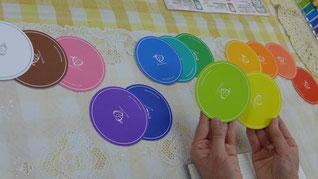 ★コースターで、カラーセラピー♪色のメッセージをプレゼント★