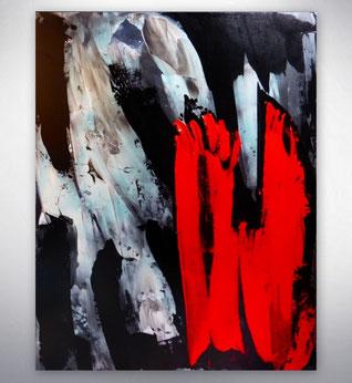 Bild, Gemälde, Silber, Gold, Rot, Weiß, Bunt, XXL, Original, Unikat, figurativ, Figuren, Menschen,