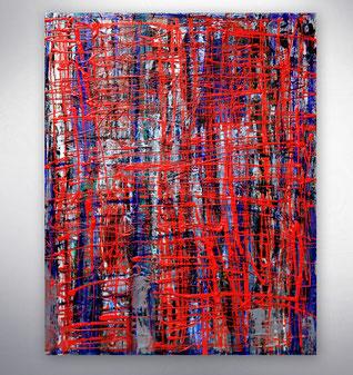 Bild, Gemälde, Silber, Gold, Blau, Weiß, Bunt, XXL, Original, Unikat,