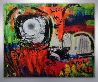 Bild, Gemälde, Silber, Gold, Rot, Blau, Grün, Neon Farben,, Weiß, Bunt, XXL, Original, Unikat, Collage