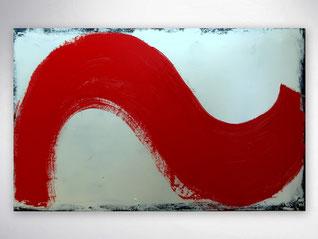Moderne Bilder, große Gemälde, Bilder XXL, Silber, Rot, Abstrakte Bilder Galerie,  Original, Unikat,