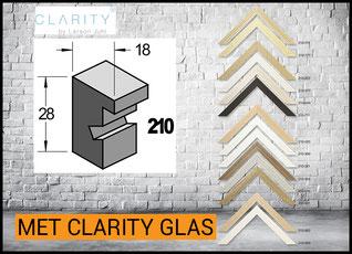 Barth Lijst hout 210 met Clarity