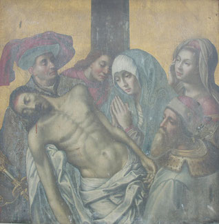 Descente de croix avant restauration