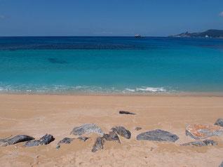 沖縄のキレイなビーチ 写真