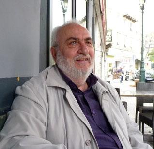 """""""Dédé"""" Tomasini à la terrasse de 'l'Ombrage""""."""