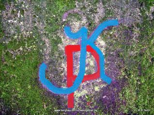 """Inschrift """"K P"""""""
