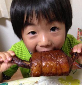お子様にマンガ肉