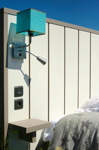 OHMYBED_Tête de lit décor blanc avec séparateur greige brillant