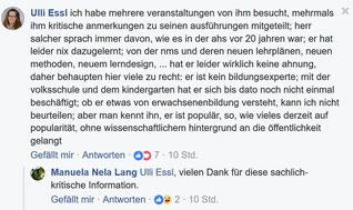 """Kommentar dazu in der FB - Gruppe """"BILDUNG IST ZUKUNFT - FÜR ALLE MENSCHEN IN ÖSTERREICH!"""""""
