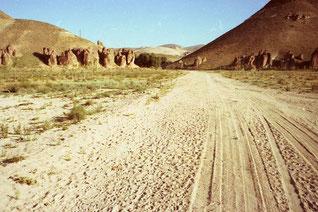 Zufahrt zu einem versteckt liegenden Kurden-Dorf